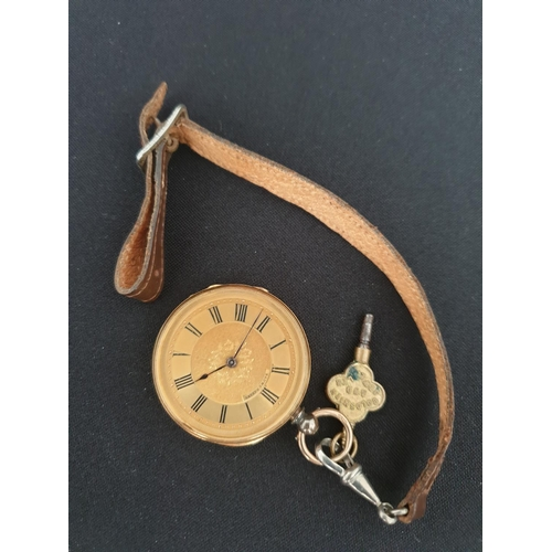 10 - Baume Geneve 18ct gold pocket watch late 19th century...
