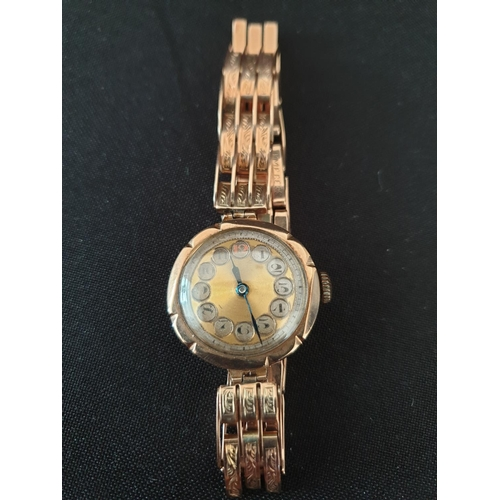 14 - Ladies 1930 watch 9ct gold antique...