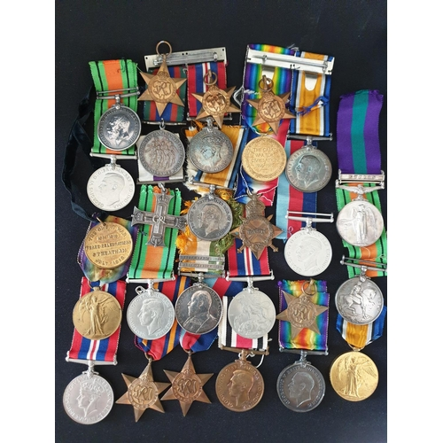 21 - Mixed lot of medals As in photograph plus many more...