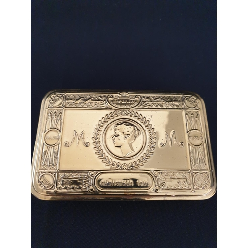 23 - Queen Mary box Christmas 1914 gift box from Queen Mary to soldiers in the Trenches...