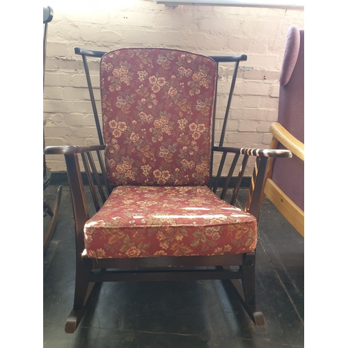 3 - Rocking chair with cushion...