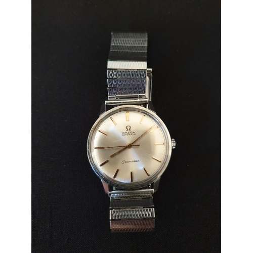 32 - Mens Omega Seamaster Automatic 1950/1960 seamaster with metal strap...