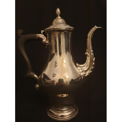 40 - Silver Coffee pot Quality English made coffee pot eastern style...