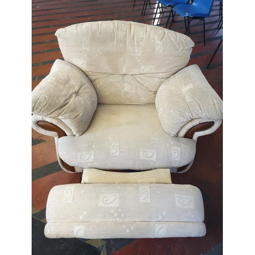 5 - Upholstered rocking chair and recliner with built-in foot rest...