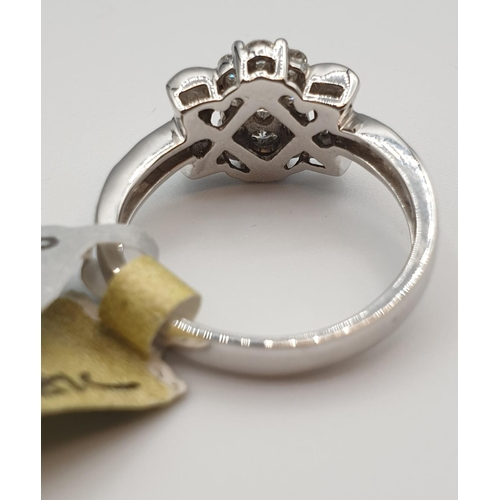 24 - 18ct gold ring with 0.81ct diamond, size N weight 4.8g...
