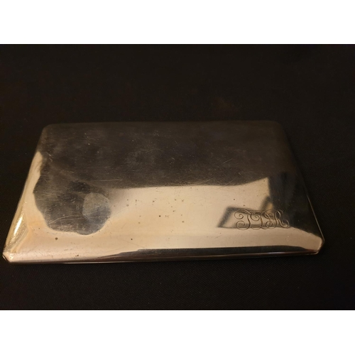 31 - Slimline silver cigarette case made by Birks Canada, approx 6.3 ounces...