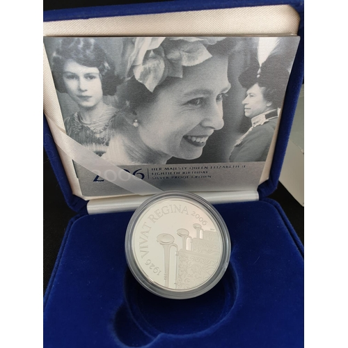 30 - This Silver proof coin was struck by the Royal Mint 2006 to celebrate the 80th birthday of the Queen...