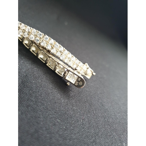 43 - 925 silver dress bracelet, 24.2g weight and 38cm long...