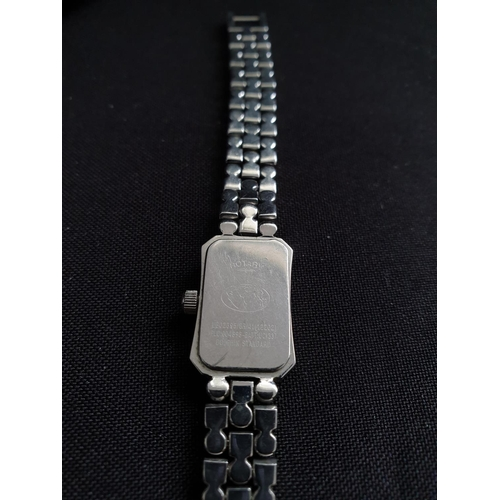 50 - Ladies Rotary dress watch with stainless steel and diamante strap...