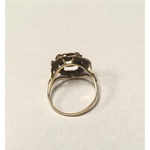57 - 9ct gold ring hallmarked 375 weight 2.6g pinky ring maxi Milano empradon coin...