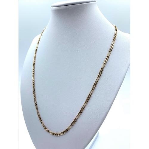 26 - 9ct Rose Gold Interlinked Necklace 3.1g 50cm...