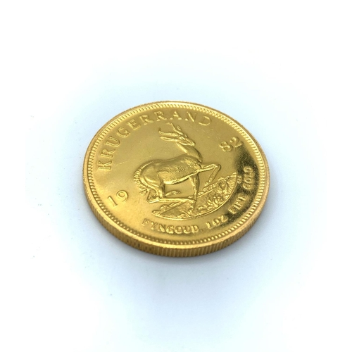 30 - Krugerrand Coin Minted in 1982 CI03 Fine Gold...