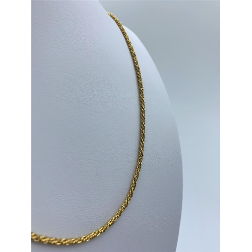 32 - 18ct Yellow Gold Solid Twist Decorative Necklace. 26.7g 78cm...