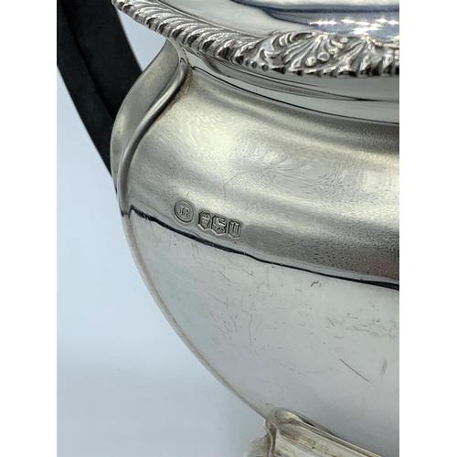 5 - Vintage Silver Tea set to include a Coffee Pot (9x20x23cm), a Teapot (13x27x16cm), Creamer (8x13x11c...