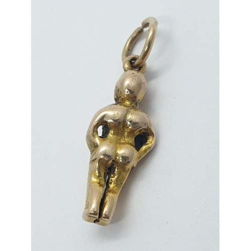 156 - 9ct CHARM/PENDANT in the shape of a man.  2g