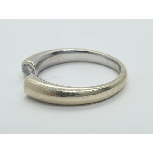 169 - 9Ct gold diamond band RING.  Bendable.   4.3g   Size N