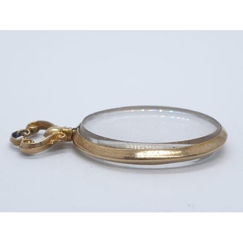 173 - 9ct vintage locket pendant