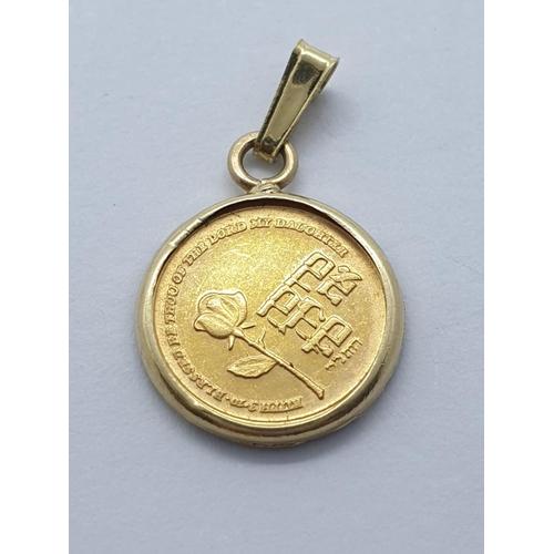 270 - 3 assorted gold pendants, weight 3.5g
