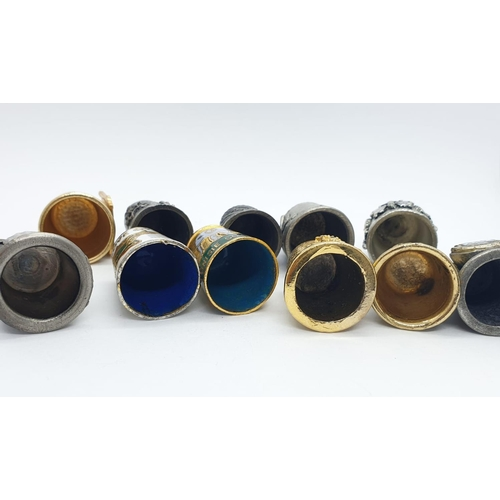 291 - Selection of 11 x Vintage THIMBLES.