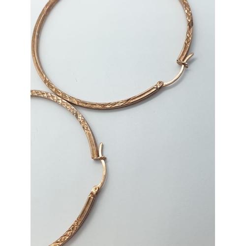 446 - Silver gild hoop earrings