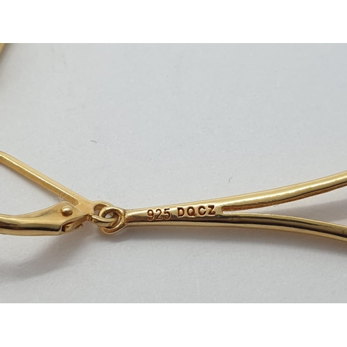 570 - Silver gild earrings