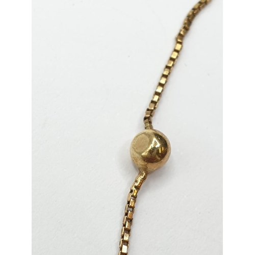 321 - 9ct gold NECKLACE.  2.5g   38cm