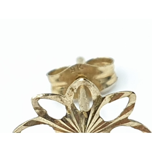 500 - 2 x pairs of 9ct gold EARRINGS.