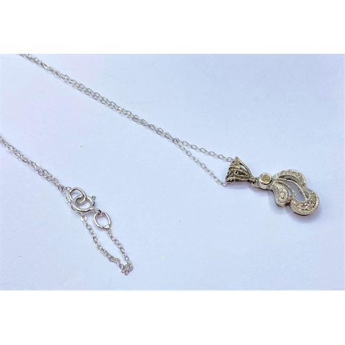 120 - 9ct gold PENDANT with 43cm 9ct chain