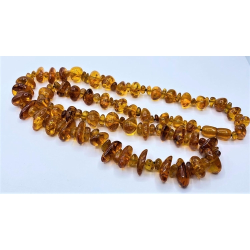 214 - Amber NECKLACE.  76g.     76cm.