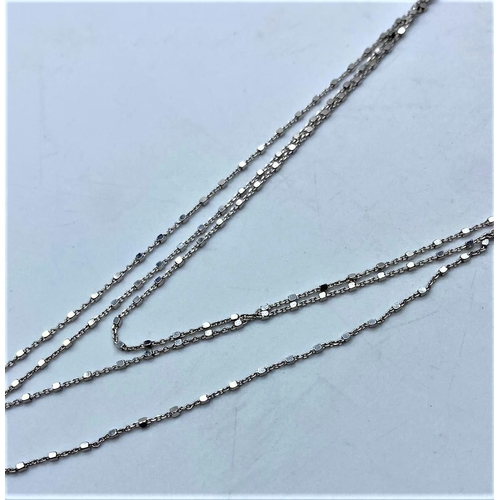 219 - Silver necklace choker style
