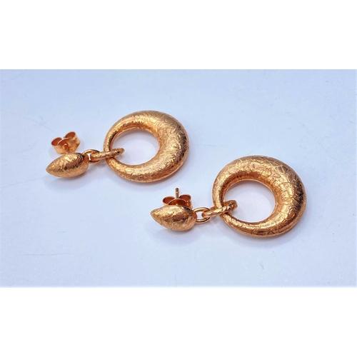 287 - Pair of Silver gilded EARRINGS.  8.0g