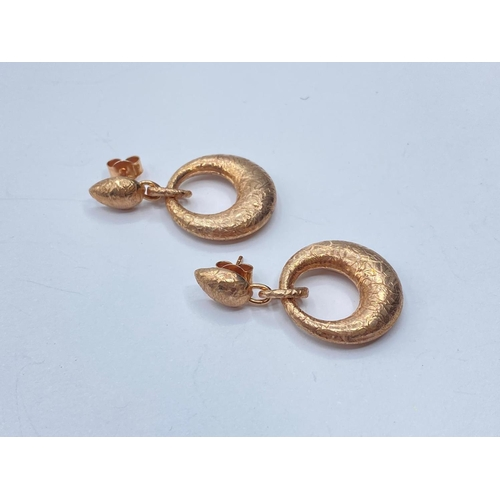 287 - Pair of Silver gilded EARRINGS.  8.0g
