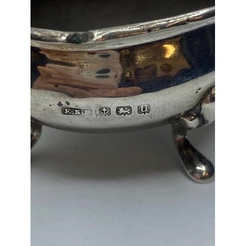 357 - Silver 3 piece cruet set, weight 133g