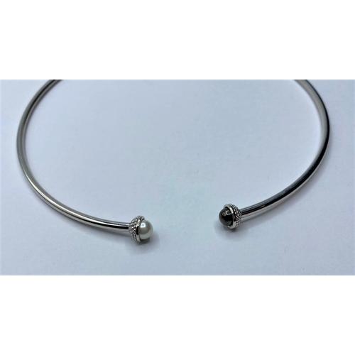 372 - Silver choker NECKLACE