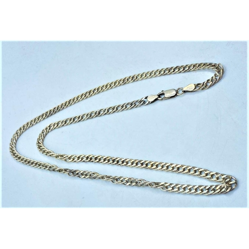 435 - Silver interlink CHAIN .  42 cm    14.8g