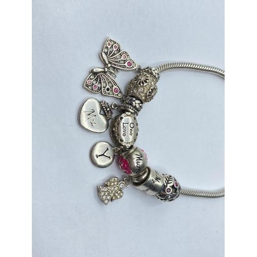 57 - Pandora style silver BRACELET.