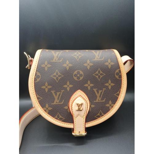 14 - Louis Vuitton Shoulder BAG, as new in Half Drum shape.  15 x 18 cm