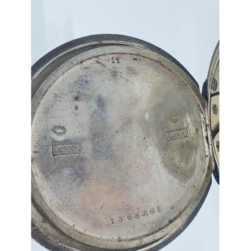 112 - Neillos Cuban Silver and Rose gold POCKET WATCH early 1900's