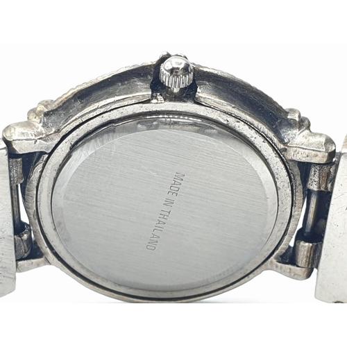 133 - Silver and Marcasite LADY'S WRISTWATCH.  Quartz movement.