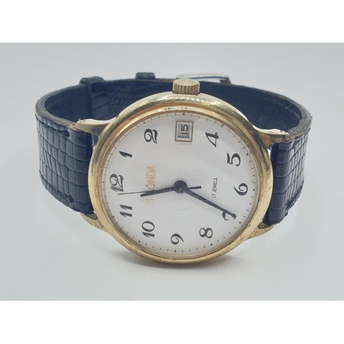 138 - Vintage Sekonda WRISTWATCH with leather strap.  FWO.