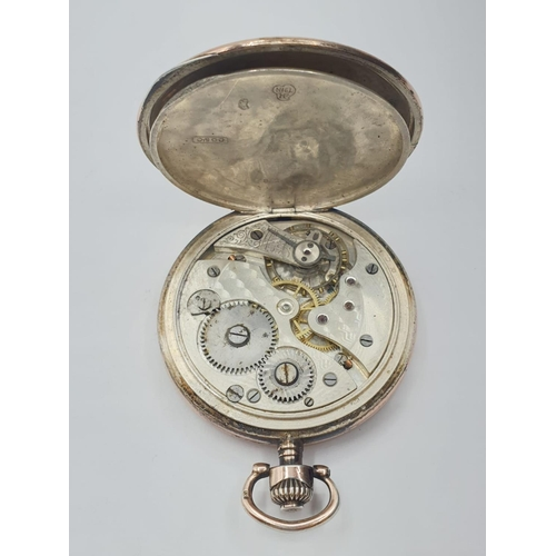 29 - Onoto Silver and 9ct gold engraved POCKET WATCH.
