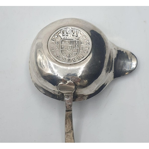 44 - Silver PUNCH LADLE.  1722.
