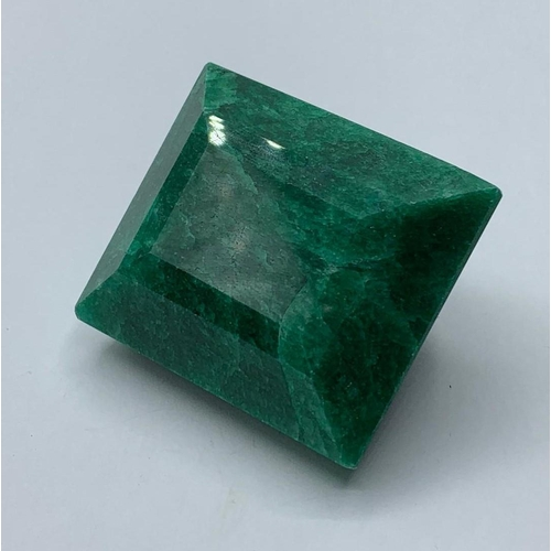 129 - 312ct Emerald Gemstone, 41x35x26mm