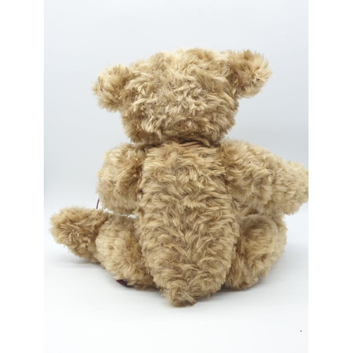 326 - A RUSS TEDDY BEAR with suede feet and hands.  40cm tall plus a 1950's craft bunny. 23cm tall.    A/F