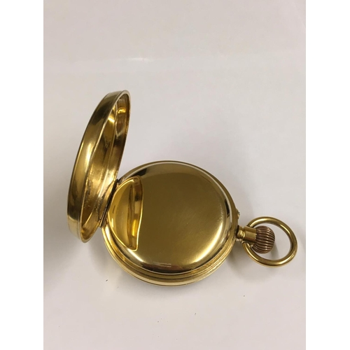 68 - Antique gilt Goliath POCKET WATCH with see through crystal display case.  65mm with a see through pr...