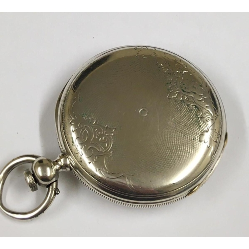 79 - Antique solid silver Longines full HUNTER POCKET WATCH.  triple signed.   missing glass A/F
