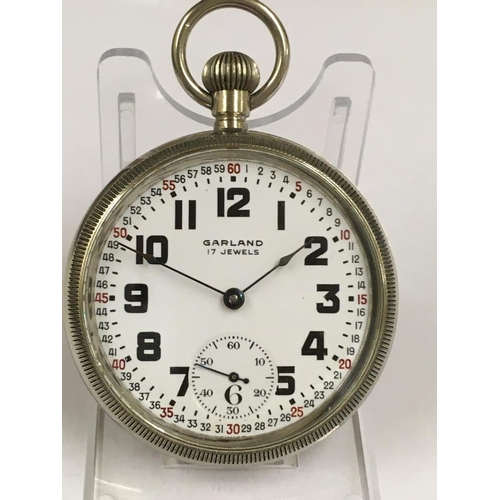 89 - Vintage Ball watch company POCKET WATCH. Working and in good condition but no guarantees.