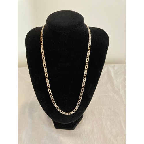 256 - Silver Curb Chain Necklace of Superior Quality. 50cm Approx, 21.9 Grams approx. Excellent Condition.