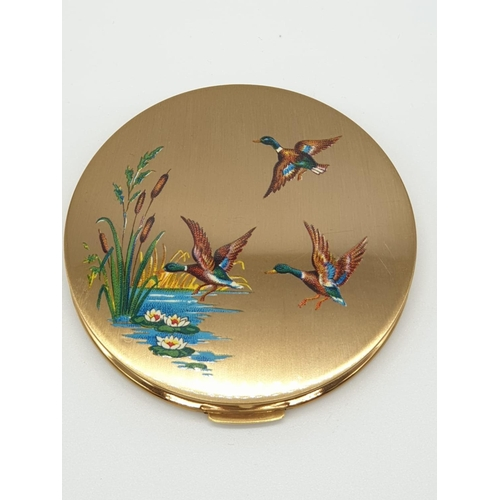 541 - Vintage Stratton COMPACT, as new with decorated lid.