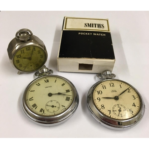 473 - 2 x vintage POCKET WATCHES plus one other.  A/F
